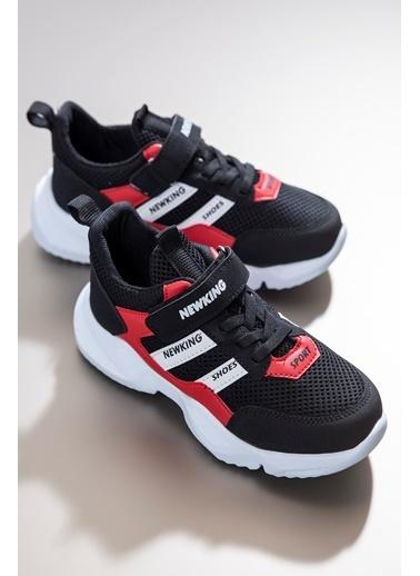 Tonny Black Siyah Kırmızı Çocuk Spor Ayakkabı Tbn006  Siyah